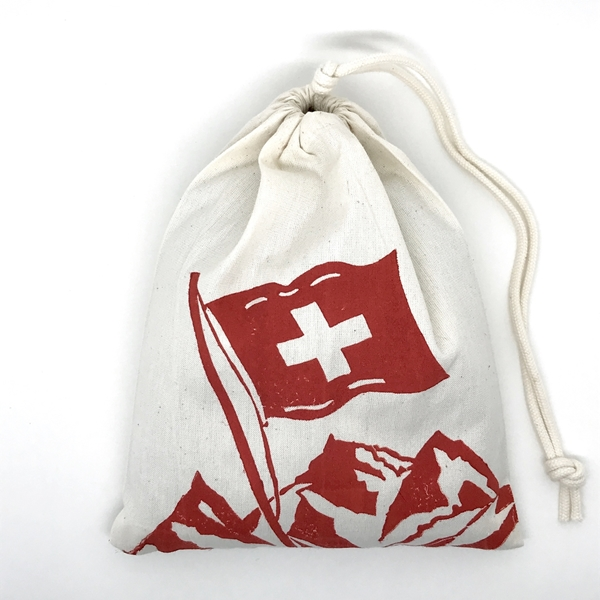 Bild von Bio-Bergkräuter-Beutel, Schweizerfahne Rot
