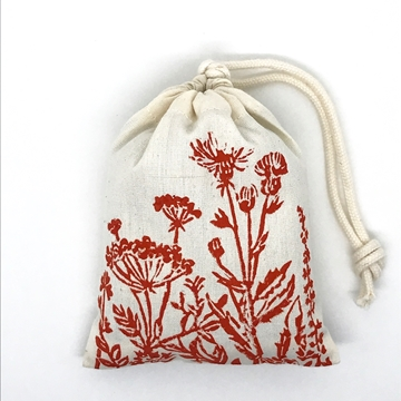 Bild von Baumwollbeutel mit Bio-Lavendel aus der Provence, Blumenwiese Orange