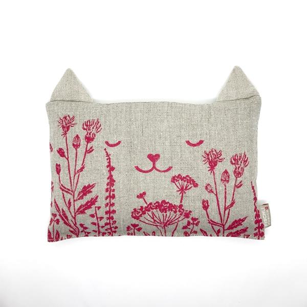 Bild von Schlafwohl-Nuscheli 'Katze Marieli' aus Leinen gefüllt mit Bio-Hirse und Lavendel