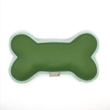 Bild von Grosser Beissknochen mit Quietscher  -  das Hundespielzeug, Grün/ Pistache