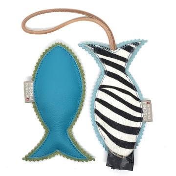 Bild von Geschenkset mit Fischlianhänger und kleinem Beissfischli  -  stylische Accessoire für den Hunde-Spaziergang