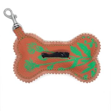 Bild von Knochenanhänger Bennet -  Frühlingsedition mit Handdruck Orange