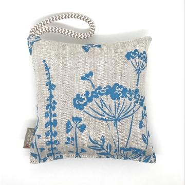 Bild von Arvenkissen Leinen, Blumenwiese Hellblau