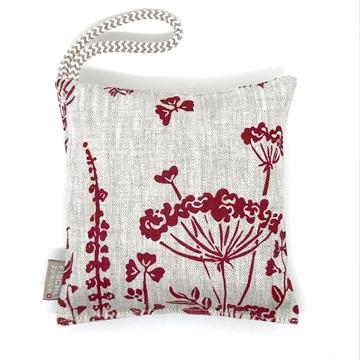 Bild von Arvenkissen Leinen, Blumenwiese Rot